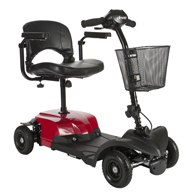 Drive BOBCATX4 Bobcat X4 Compact Transportable Scooter-4 Wheel-Red