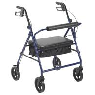 "Drive Medical Bariatric Rollator with 8"" Wheels"